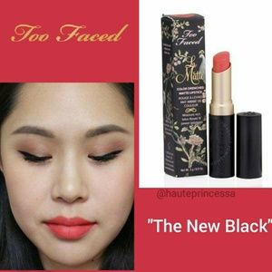3/$15 Too Faced La Matte Lipstick 'The New Black'